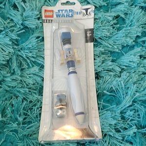 nip 2008 lego star wars r2-d2 ballpoint pen